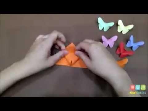 蝴蝶摺紙 | Butterfly origami