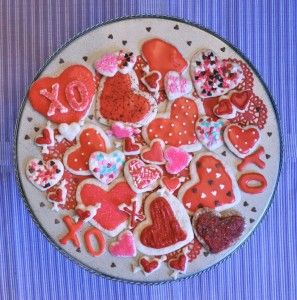 Gluten Free Sugar Cookies are so easy! Plus, vegan dough makes it easy to nibble as you decorate, too! glutenfree vegan ValentinesDay