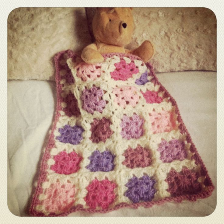 Crochet doll blanket