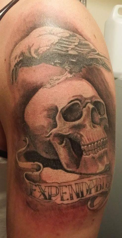 #expendables #tattoo #Lukasz #regensburg #tattoo kryptonite #skul #