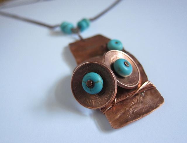 Designs By Alejandra Carazo.Handcraft copper necklace  https://www.facebook.com/DesignsByAlejandraCarazo?ref=bookmarks