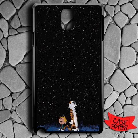 Calvin And Hobes Night Sky Samsung Galaxy Note 3 Black Case