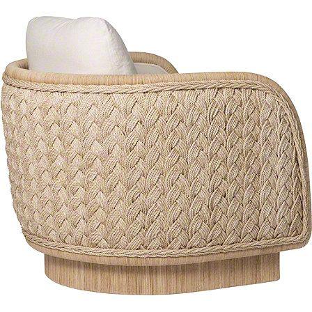 McGuire Furniture: Laura Kirar Coastal Braided Swivel Lounge Chair: No. A-106