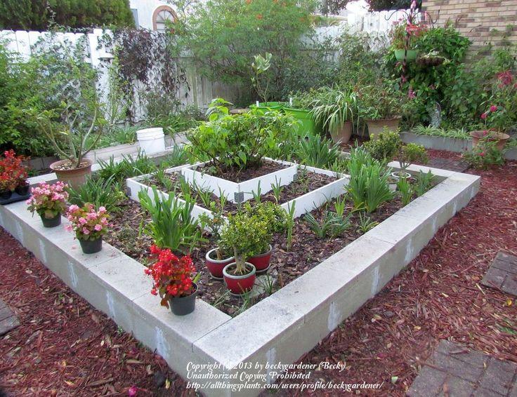 Diy flower beds cinder block raised beds cinder block for Cheap flower bed ideas