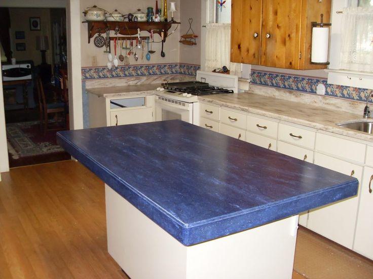 Kitchen Blue Corian Countertops