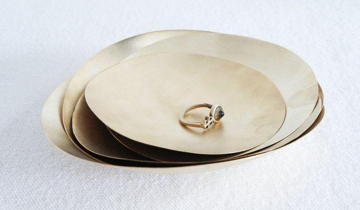 Set of 5 Gold Bowls