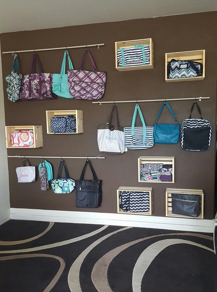 One of our awesome Customers, Cassandra, has a fabulous display set up for her Thirty-One products. This is great inspiration for showcasing your own collection!