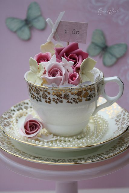 Pretty teacups by Cotton and Crumbs, via Flickr