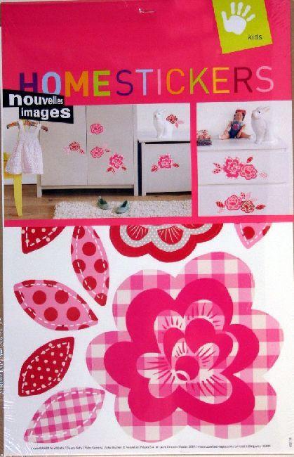 homestickers decorazioni a parete deco fiori rosa 2