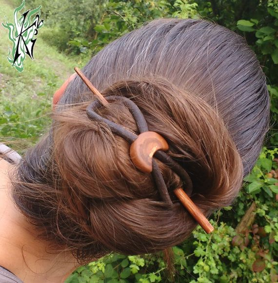 Haarspange Haarstab Acht8 gestockte von JadedracheHairPoetry