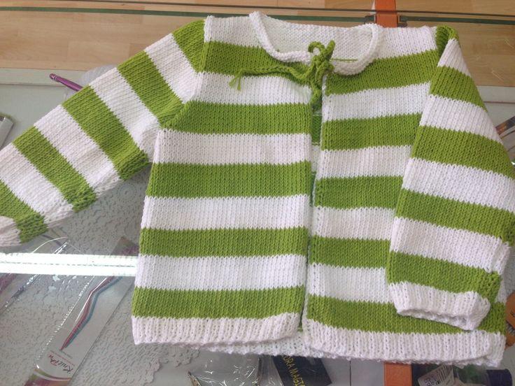 chaqueta para niña, tejida en algodón 100%