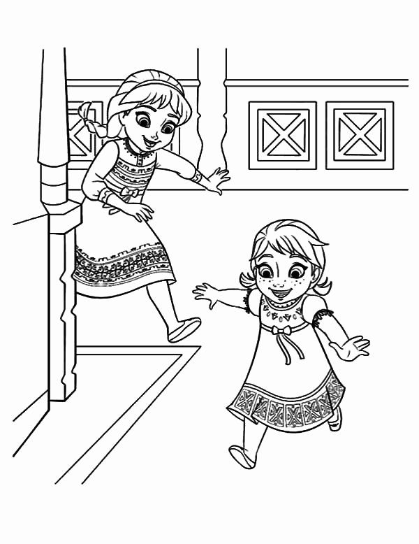 Anna Elsa Coloring Page Best Of Little Elsa Chase Little Anna Coloring Pages Elsa Coloring Pages Frozen Coloring Frozen Coloring Pages