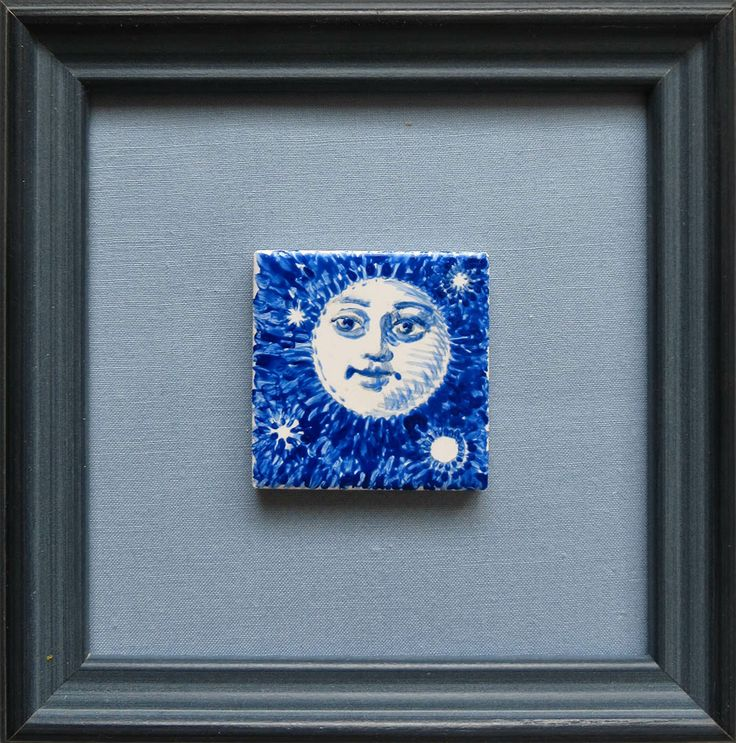 """""""Night LIght"""" framed, 2014, by Lorraine K. Muenster, image size: 2 x 2 inches"""