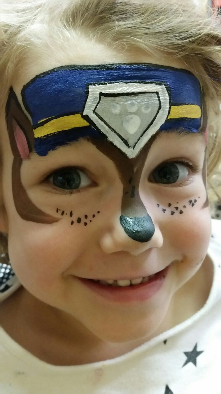 Chase. Paw Patrol pups by Happy Valley Face Painting