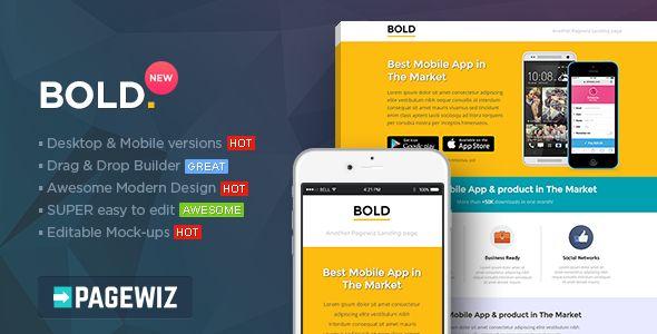 BOLD - Pagewiz App Landing Page Template