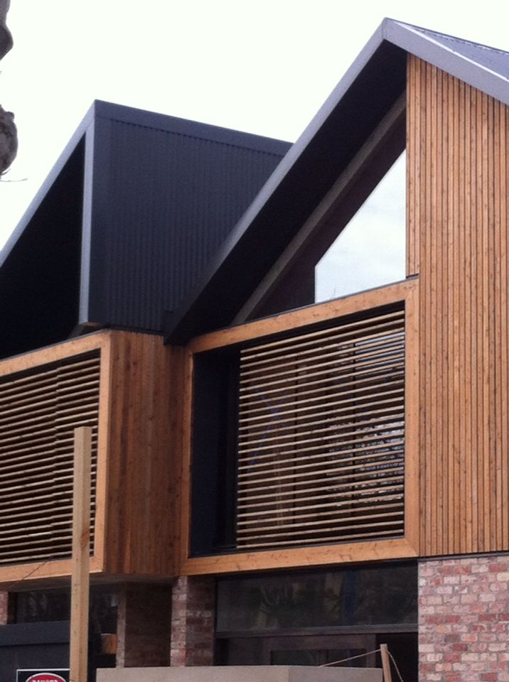 Love the use of recycled brick , wood and steel