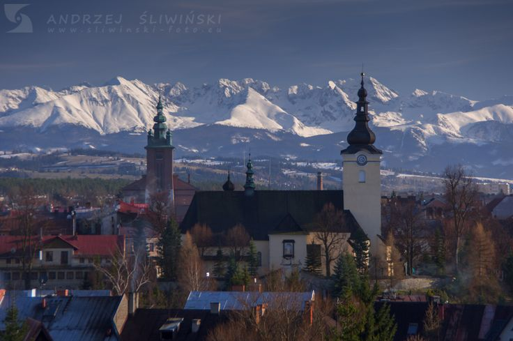 Nowy Targ with the Tatra Mountains on the background.