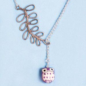 DIY Owl Necklace | AllFreeJewelryMaking.com