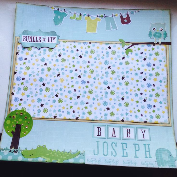 Echo park - bundle of joy- 2 scrapbook layout, baby boy. Will frame it once i add photos!