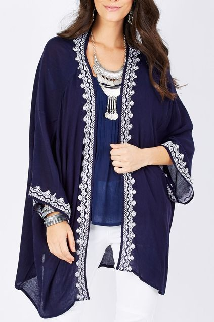 boho bird A Walk In The Park Kimono - Womens Kimonos at Birdsnest Women's Clothing