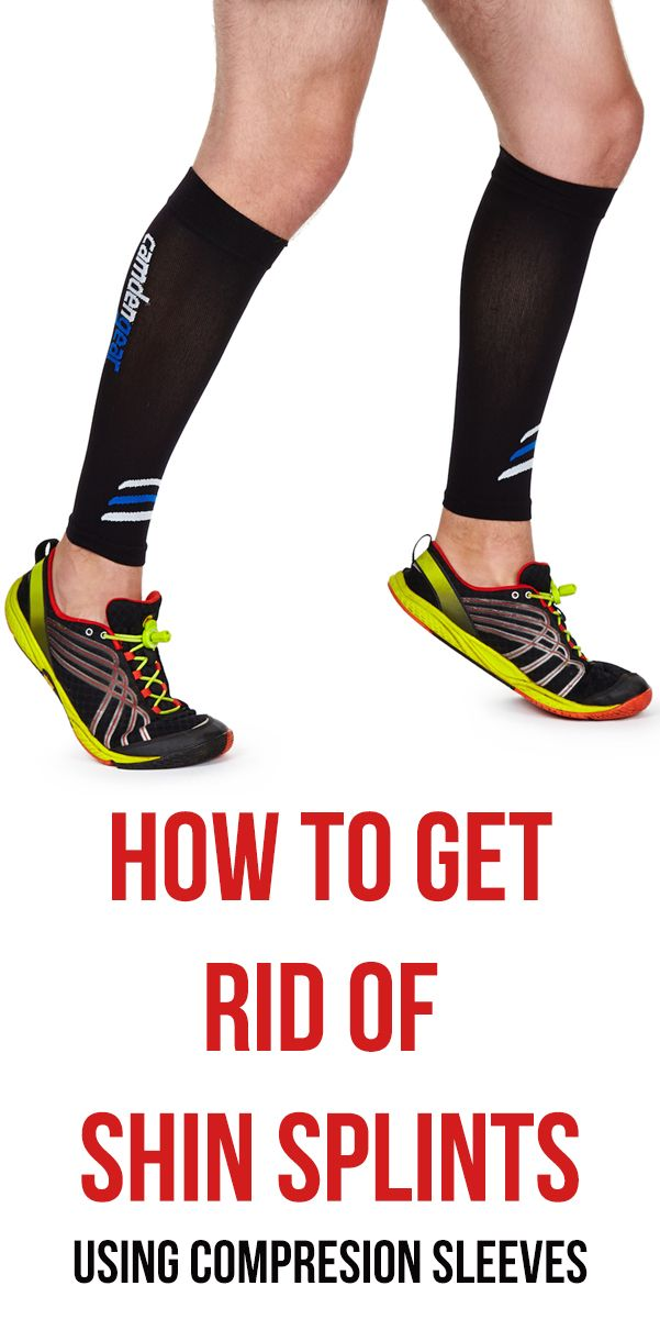 Read how to get rid of your shin splints by using compression sleeves. Cure your pain by using this for recovery and also during your run #shinsplints