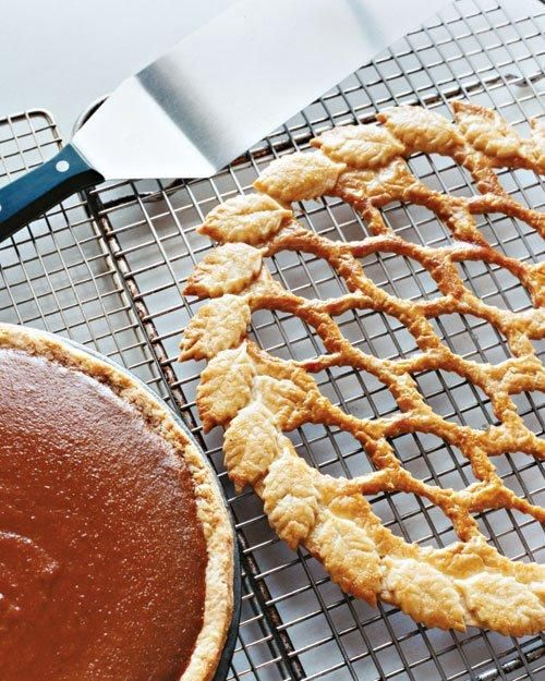 Maple Pumpkin Pie with Leaf Lattice Recipe