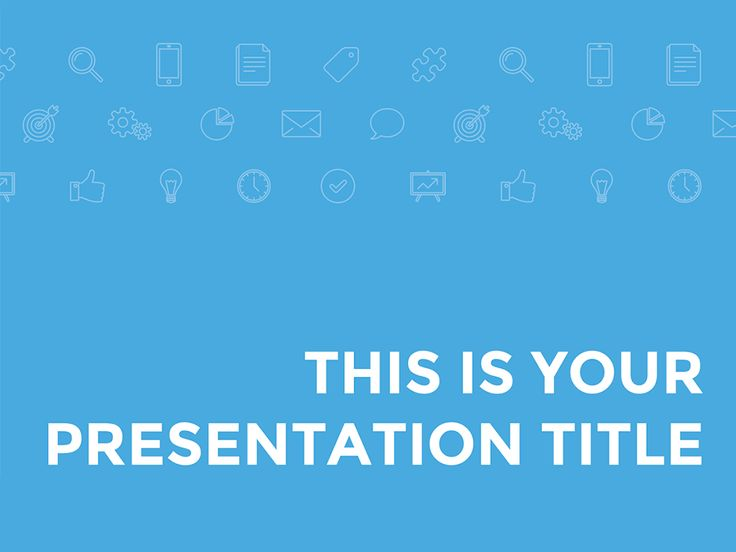 Another corporate free template for your professional and business presentations. You can change the all-blue color palette if you need to adapt it to your corporate identity. The background pattern of icons is also editable. Give a professional look to your decks and achieve your communication objectives with this free presentation template. This free presentation template