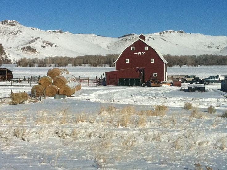 Red barn in Del Norte, Colorado (Photo credit: DNRW 12/24/2011)