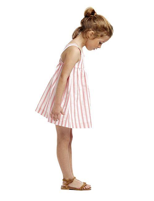 Vestido rayas coral para niña (2-10 años)|Gocco  - Tienda oficial Gocco