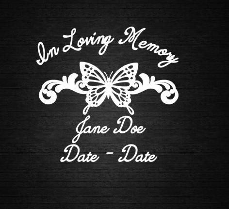 In loving memory butterfly window decal by countryheartdesignz