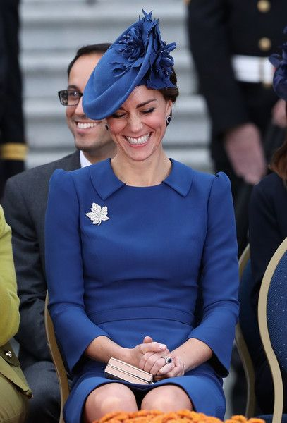 Catherine, Duchess of Cambridge attends the Official Welcome Ceremony for the Royal Tour at the British Columbia Legislature on September 24, 2016 in Victoria, Canada. Prince William, Duke of Cambridge, Catherine, Duchess of Cambridge, Prince George and Princess Charlotte are visiting Canada as part of an eight day visit to the country taking in areas such as Bella Bella, Whitehorse and Kelowna.