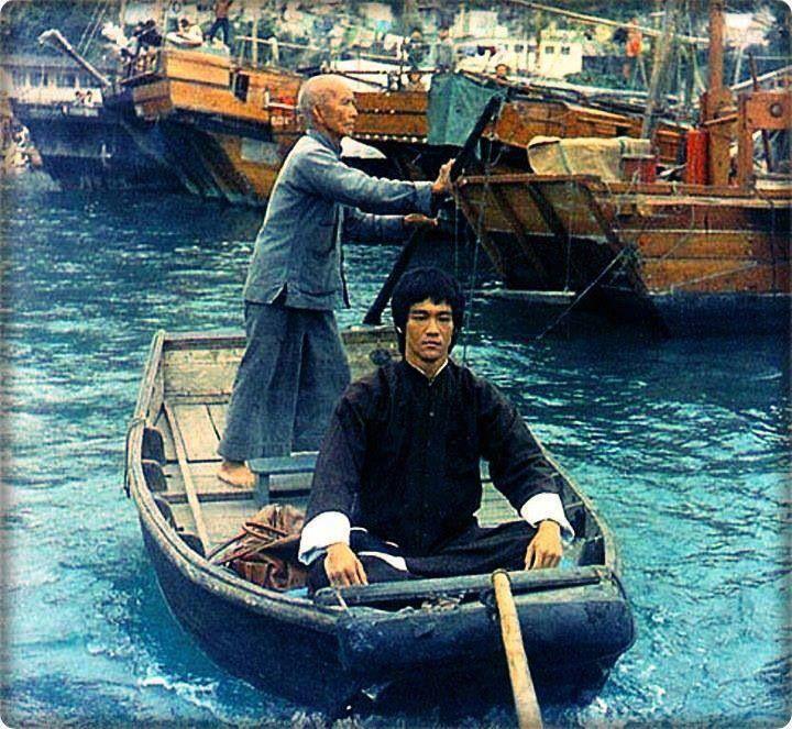Bruce Lee & Ip Man cameo as boatman(?).