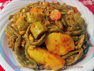 Φασολάκια κοκκινιστά με κολοκύθια και πατάτες