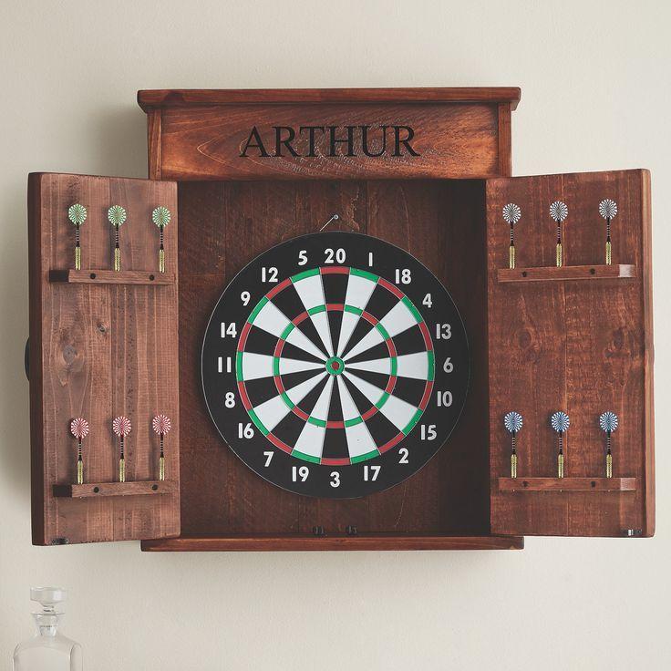 Awesome Dart Board Cabinet From Wineenthusiast Com So What Do You Think Dart Board Cabinet Dart Board Dart Board Wall