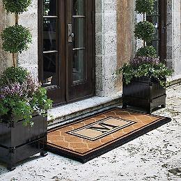 English Garden Monogrammed Entry Mat - Frontgate