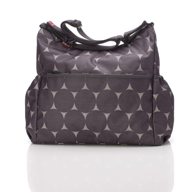 Big Slouchy Jumbo Dot Grey changing bag