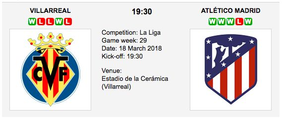 Villarreal vs Atletico Madrid - Betting Preview & Tips La Liga.  Follow our free betting tips for Villarreal vs Atletico Madrid - Spanish La Liga and you can increase your betting winnings!