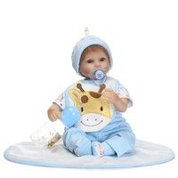 Wish | handmade New Arrive 17inch Real life like reborn Baby Doll Lovely soft vinyl reborn baby Doll For Birthday Gift