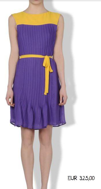 Vestito giallo e viola image