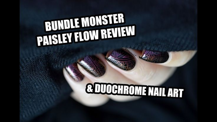 Bundle Monster Paisley Flow Set - Review & Tribal Duochrome Nail Art tutorial || ...