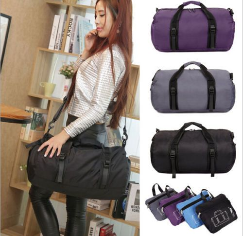 Womens-Gym-Bag-Duffle-Foldable-Waterproof-Sports-Bag-Travel-Carry-On-Tote