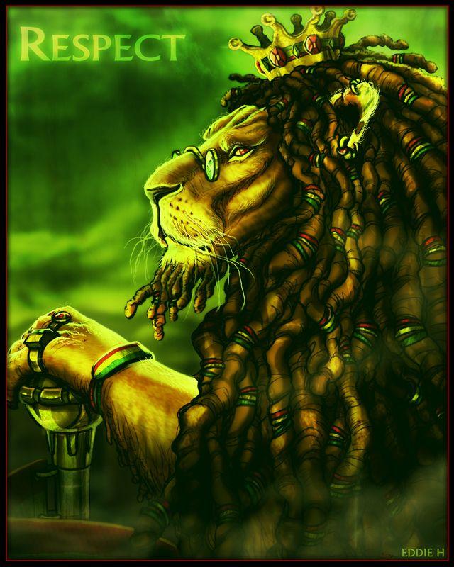 KING LION - RASTA by EddieHolly.deviantart.com on @deviantART