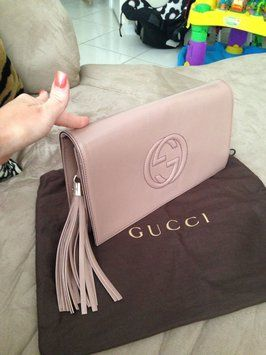 Gucci Soho Patent Leather Clutch $549