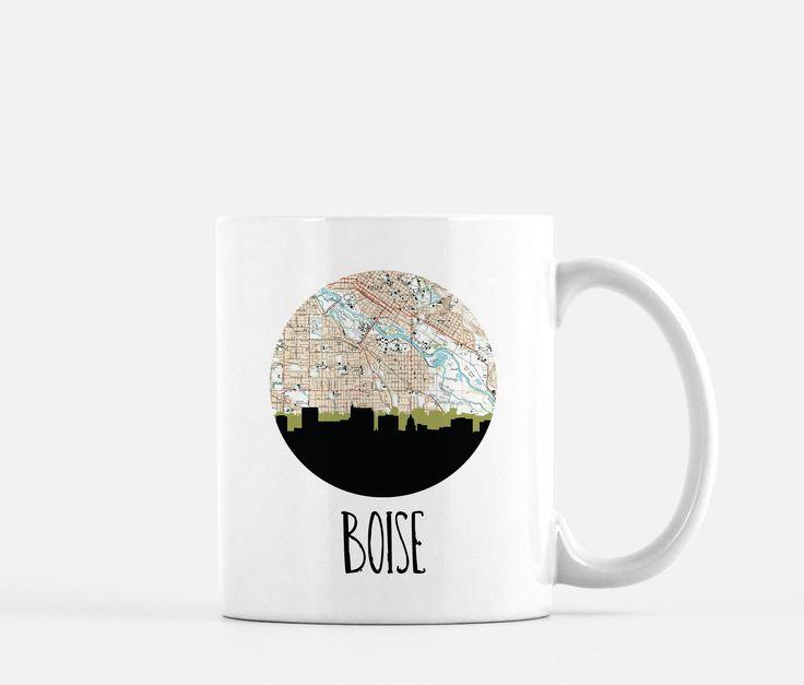 Boise Map Skyline Ceramic Mug