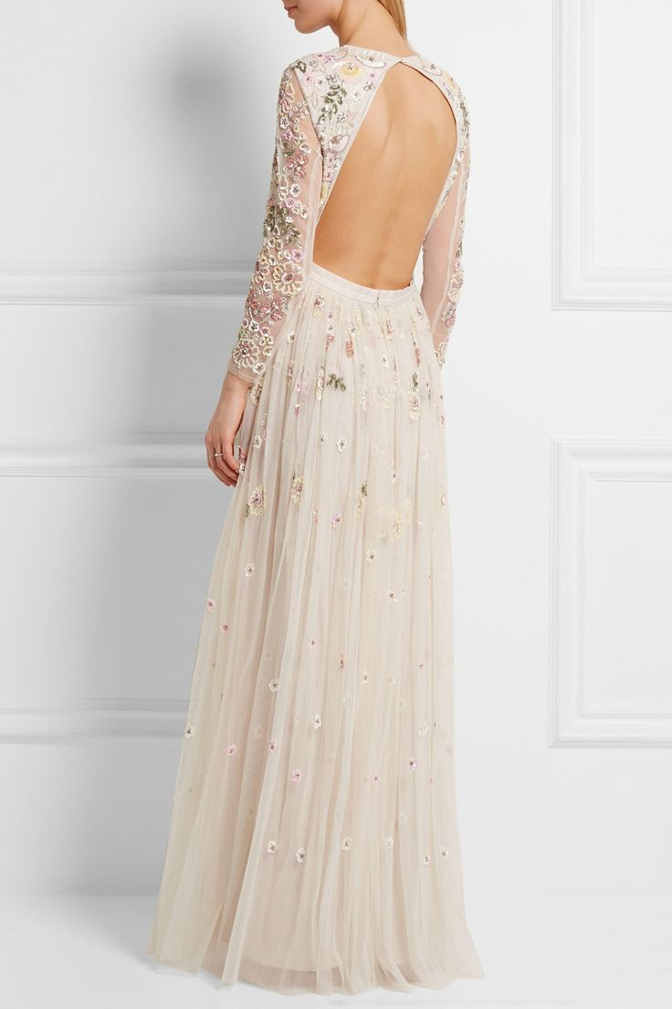 backless embellished wedding gown by Needle & Thread - Top wedding dresses under $1000