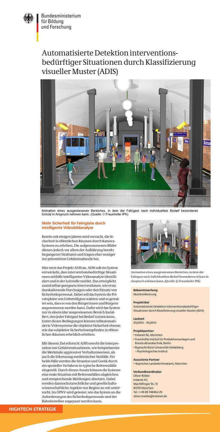 Mehr Sicherheit für Bus und Bahn Fahrgäste durch intelligente Videobildanalyse - Schatz? Ich liebe Dich! Dein Eduard Zimmermann! :-D