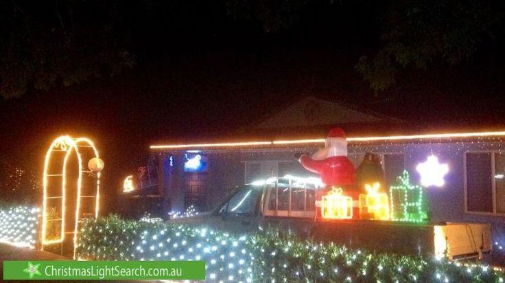 Christmas lights in Thornton, NSW, Australia.