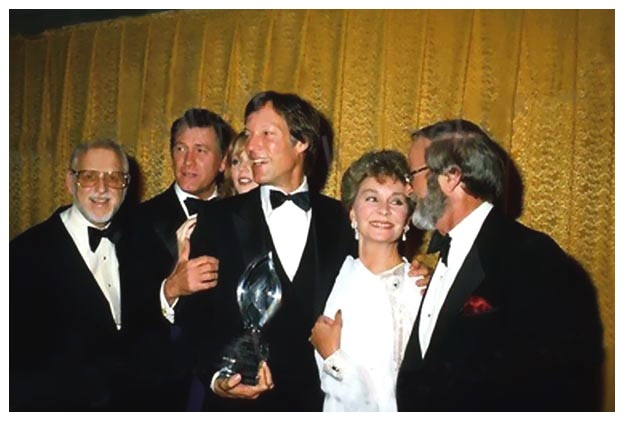 "Watch Richard Chamberlain accept the 10th People's Choice Award on behalf of ""The Thorn Birds"" cast and crew!"