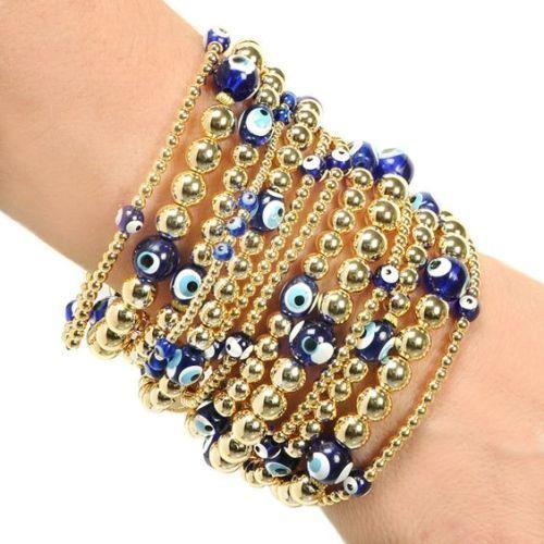 evil eye beads  bracelet- Evil eye jewelry bracelets http://www.justtrendygirls.com/evil-eye-jewelry-bracelets/