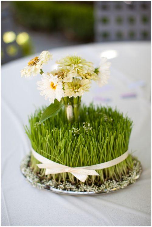 centres de table chics, décoration vin d'honneur mariage
